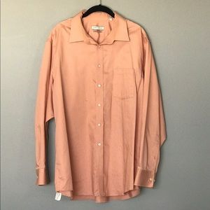 Joseph Abboud light orange dress shirt